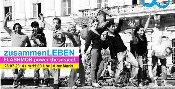 flashmob power the PEACE am 26.07.2014